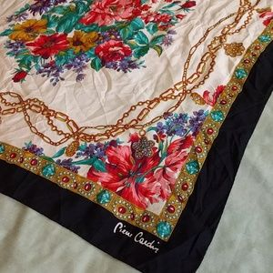 Pierre Cardin Accessories - Pierre Cardin Floral + Jeweled Scarf